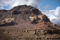 Vorfeld am zerbröckelnden Berg Lizenzfreies Stockfoto