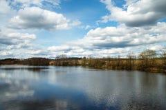 Vorfrühling in dem Teich Lizenzfreies Stockbild