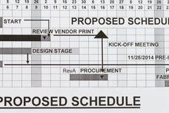 Vorgeschlagener Zeitplan Stockfotos