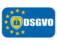 Vorgeschriebene deutsche Veränderung des Schutzes der allgemeinen Daten DSGVO Stockbilder