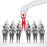 Vorgewählt für Jobkonzeptdesign Lizenzfreies Stockbild