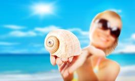 Vorgewählter Fokus auf dem Shell Lizenzfreie Stockbilder