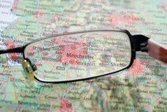 Vorgewählter Fokus auf Karte Großbritannien Stockbild