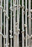 Vorhänge machten †‹â€ ‹vom Seil Stockfotografie