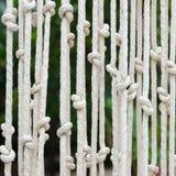 Vorhänge machten †‹â€ ‹vom Seil Lizenzfreies Stockbild