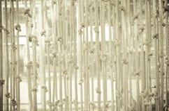 Vorhänge machten †‹â€ ‹vom Seil Stockfotos