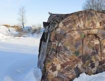 Vorhänge oder Fell für Jäger oder Fotografen Lizenzfreie Stockfotos