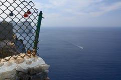 Vorhängeschlösser auf Formentor Lizenzfreie Stockfotografie