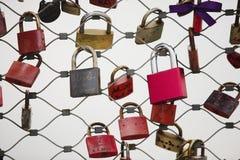 Vorhängeschlösser der Liebe Lizenzfreies Stockbild