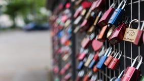 Vorhängeschlösser der Liebe Stockbild