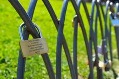 Vorhängeschlösser der Liebe Lizenzfreie Stockfotos
