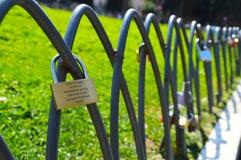 Vorhängeschlösser der Liebe Lizenzfreies Stockfoto