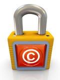 Vorhängeschloß des copyright 3d lizenzfreie abbildung