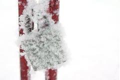 Vorhängeschloß im Schnee Lizenzfreie Stockfotos