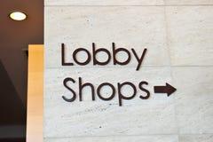 Vorhalle und Systeme Signage Stockfotos