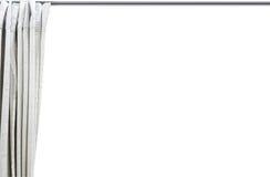 Vorhang auf weißem Hintergrund lizenzfreie stockfotografie