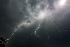 Vorhang des Blitzes Lizenzfreie Stockbilder