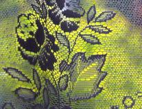 Vorhang mit einem Blumenmotiv Stockfotografie