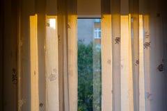 Vorhang und Tageslicht Stockfoto