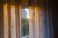 Vorhang und Tageslicht Stockbild