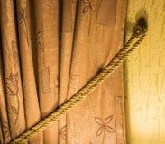 Vorhangnahaufnahme stockfoto