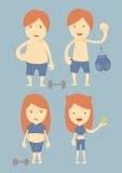 Vorher und nachher,  stock abbildung