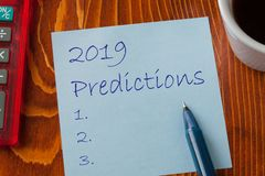 2019 Vorhersagen-Konzept lizenzfreies stockbild