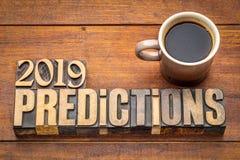 Vorhersagenkonzept 2019 lizenzfreies stockbild