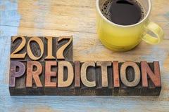 Vorhersagenkonzept 2017 Stockbild