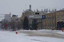 Vorige Dag voor de Installatie van GM in Janesville, Wisconsin Stock Afbeelding
