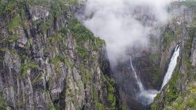 Voringfossen瀑布 库存图片