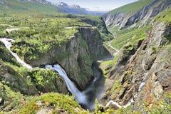 Voringfossen Norge Arkivfoton