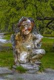 VORINGFOSSEN, NORVÈGE - 28 mai 2016, sculpture en bois en troll près Photographie stock