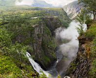 Voringfossen waterfall in  Norway Stock Images