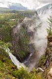 Voringfossen waterfall in  Norway Royalty Free Stock Photo
