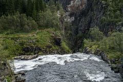 The Voringfossen Waterfall. In Norway Royalty Free Stock Photos
