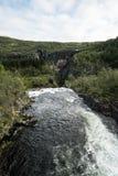 The Voringfossen Waterfall. In Norway Royalty Free Stock Photo