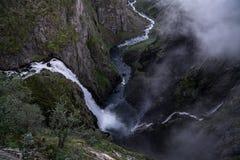 The Voringfossen Waterfall. In Norway Stock Image