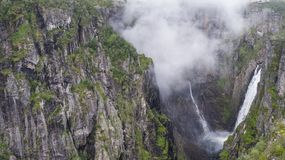 The Voringfossen Waterfall. In Norway Stock Images