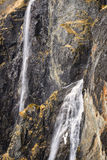 Voringfossen Waterfalls, Close-Up,  Norway Royalty Free Stock Photography