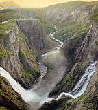 Voringsfossen瀑布 免版税库存照片