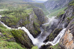 Voringsfossen. The 83rd highest waterfall in Norway on the basis of total fall. It is perhaps the most famous waterfall in the country and a major tourist Royalty Free Stock Photography