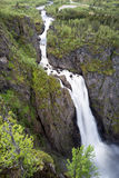 Voringsfossen. The 83rd highest waterfall in Norway on the basis of total fall. It is perhaps the most famous waterfall in the country and a major tourist Royalty Free Stock Images