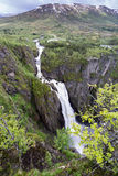 Voringsfossen. The 83rd highest waterfall in Norway on the basis of total fall. It is perhaps the most famous waterfall in the country and a major tourist Stock Photo