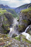 Voringsfossen. The 83rd highest waterfall in Norway on the basis of total fall. It is perhaps the most famous waterfall in the country and a major tourist Royalty Free Stock Photos