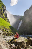 The Voringsfossen waterfall. Stock Photo