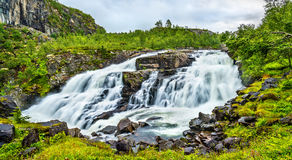 Voringsfossen waterfall on the Bjoreia river in Hordaland - Norway Royalty Free Stock Photos
