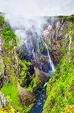 Voringsfossen waterfall on the Bjoreia river in Hordaland - Norway Royalty Free Stock Photography