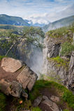 Voringsfossen waterfall canyon valley, Norway Royalty Free Stock Photos