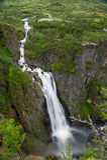 Voringsfossen waterfall close view, Norway. Stock Photo